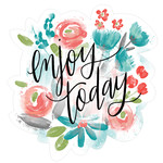 enjoy today painted floral
