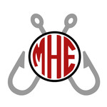 fishing hook monogram