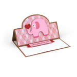 a2 easel card elephant