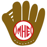 baseball/softball glove monogram