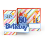 pop up box card birthday age 80
