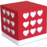 3d heart party favor box