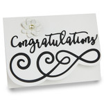 wedding congratulations double folded card
