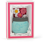 mason jar bouquet shadow box card