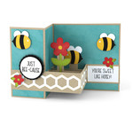 pop up box card bees
