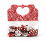 heart handle treat bag topper