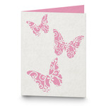 a2 triple butterfly filigree folded card