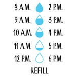 water bottle intake chart