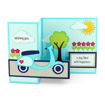 pop up box card vespa