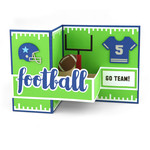 pop up box card football