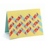 a2 card intertwined chevrons