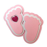 feet heart card