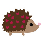 valentine hedgehog