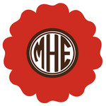 flower monogram frame