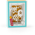 birthday balloons shadow box card