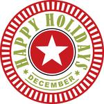 happy holidays december circle
