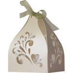 3d heart curly favor box