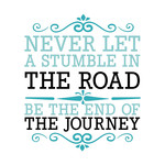 never let a stumble quote
