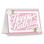 a2 happy birthday floral card