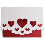 hearts fold over card