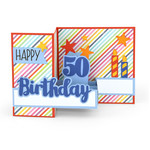 pop up box card birthday age 50