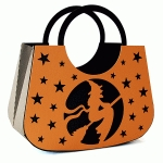 circle handle purse witch