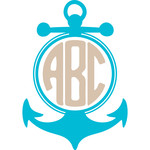 round anchor monogram frame