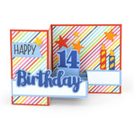 pop up box card birthday age 14
