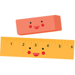 eraser and ruler