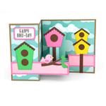 pop up box card birthday bird