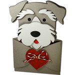 schnauzer hug gift card holder