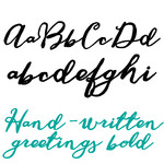 ld hand-written greetings bold
