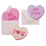 word heart cards & envelope