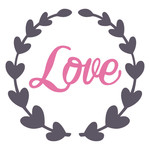 love in heart wreath