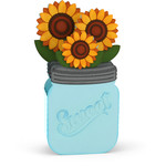mason jar sunflower box card