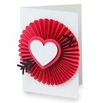 accordian heart folded card