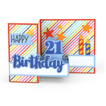 pop up box card birthday age 21