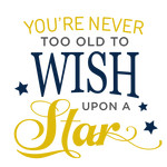 you're never too old wish phrase