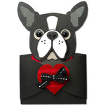 boston terrier hug gift card holder
