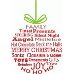 christmas ornament word art