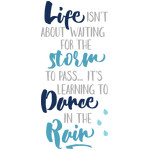 life is learning to dance in the rain