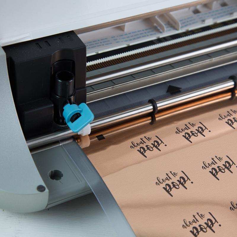 Silhouette America Sticker Paper Rose Gold Foil