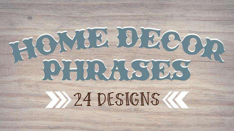 Image for Home Decor Phrases Bundle