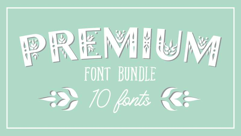 Image for Premium Font Bundle 1