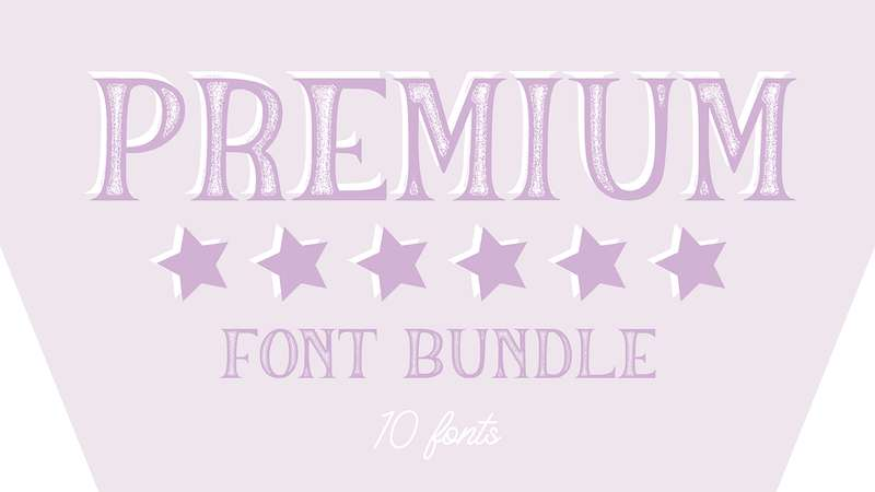 Image for Premium Font Bundle 2