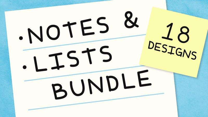 Image for Notes & Lists Bundle