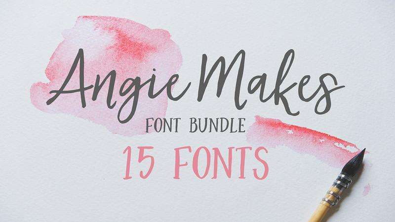 Image for Angie Makes Font Bundle