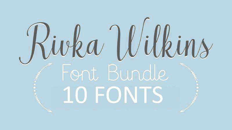 Image for Rivka Wilkins Font Bundle