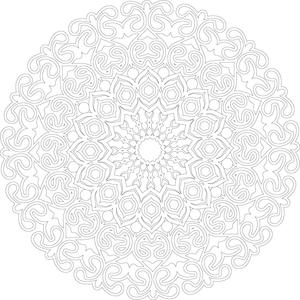 adult coloring mandala