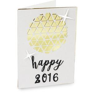 happy new year ball drop folded card
